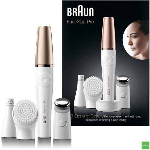Braun Face Spa Pro 911 Epilator Facial Cleansing & Skin Toning System + 3 Extras
