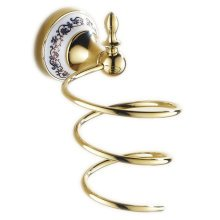 Bathroom Toilet Wall Hanging Hair Dryer Rack Storage Rack,Gold Plated
