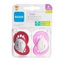 Mam Style 6+m Soother - Girl ( Pink)