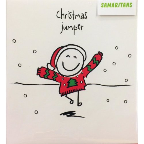 Pack of 5 Christmas cards ~ Sold in aid of SAMARITANS ~ Christmas Jumper