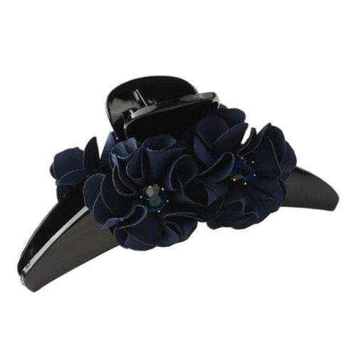 [E] Pretty Flower Fabric Hair Claws Hair Barrettes Claw Clips