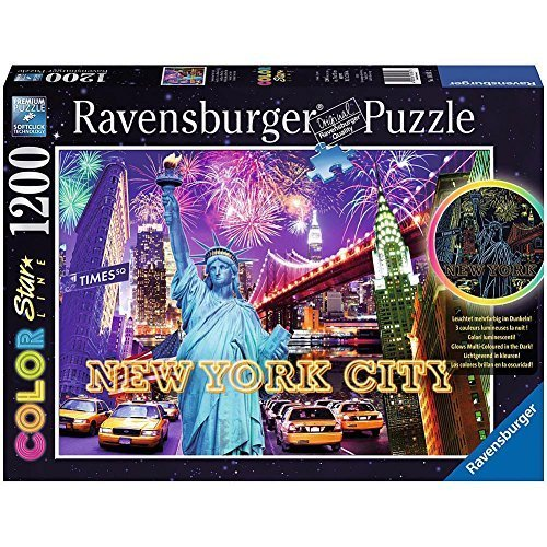 Ravensburger Colorful New York Color Starline Glow in The Dark Puzzle 1200 Piece