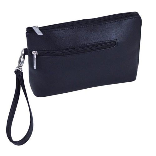 Picnic Gift 7328-BK French 75-Daily Essentials Cosmetics Bags with Removable Wristlet, Black Birmingham