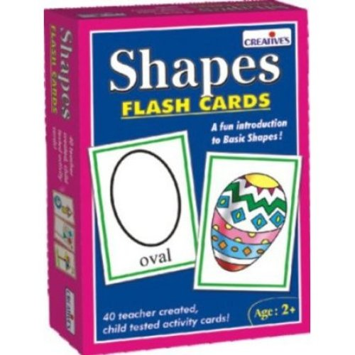 Creative Pre-school Shapes Flash Cards Educational Activity - Cre0521 Preschool -  cre0521 creative preschool shapes flash cards
