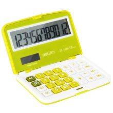 Foldable Mini Pocket Calculator Solar Power Scientific Calculators Green