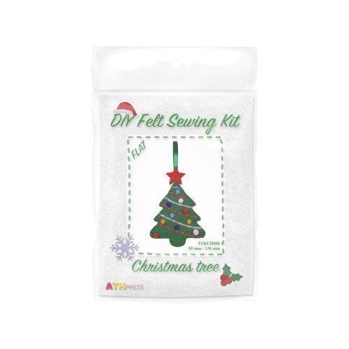 ATH Press - Christmas DIY Felt Sewing Kit Christmas Tree - flat