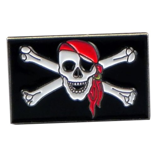 Skull & Bones Pirate Enamel Lapel Pin Badge