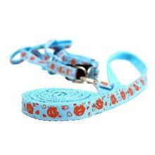 Durable Dog Collar Leash Strap For Puppy Pet,Cambridge blue