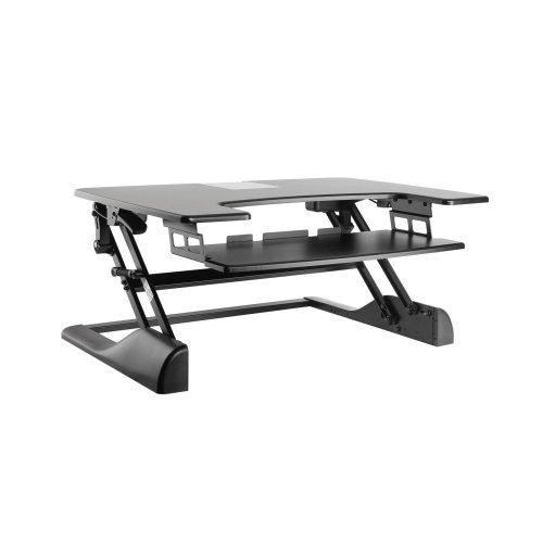Dihl Adjustable Height Monitor Stand | Desktop Workstation