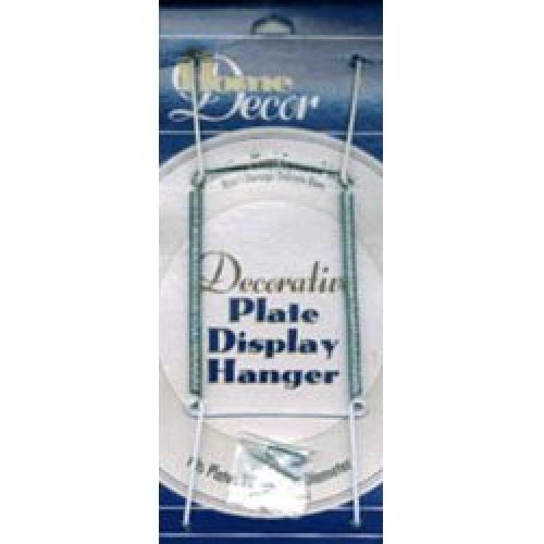 "Decorative Plate Display Hanger Expandable 10"" To 14""-White"
