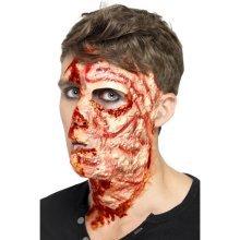 Smiffy's Adult Unisex Burnt Face Scar, Rubber , Flesh Colour, Adhesive -  scar face burnt Rubber  smiffys halloween fancy dress adhesive adult unisex