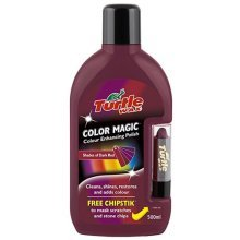 Turtle Wax Colour Magic Car Polish - With Free Chipstick - Dark Red - 500ml