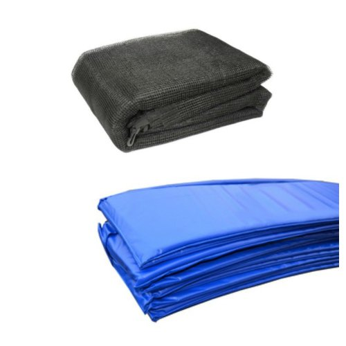 13 Ft Trampoline Accessory pack - Blue Pad and Netting