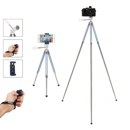 Fotopro Phone Tripod, 39.5 Inches Lightweight Portable Travel Tripod