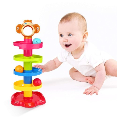 Drop and Go Roll The Ball Monkey Stacking Tower