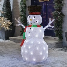 Premier Decorations - Mains Operated Indoor & Outdoor Acrylic Snowman Christmas Figure