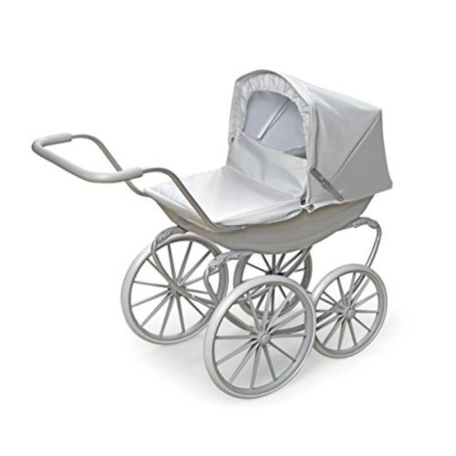 Badger Basket London Doll Pram for up to 18-Inch Dolls, Gray