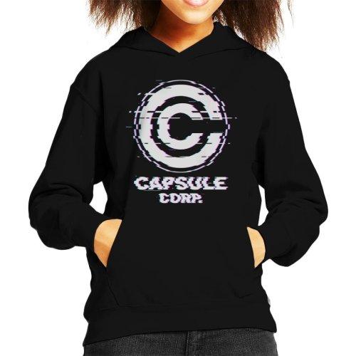 Glitch Capsule Corp Dragon Ball Z Kid's Hooded Sweatshirt