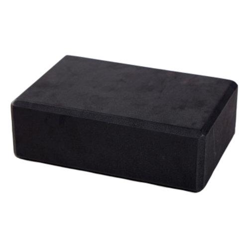 Set of 2 High-Density Yoga Block Foam Blocks Brick Yoga Mat Accessory Gym, Black