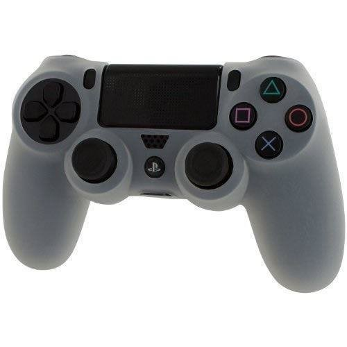 Zedlabz Pro Soft Silicone Protective Cover with Ribbed Handle Grip - Clear White PS4