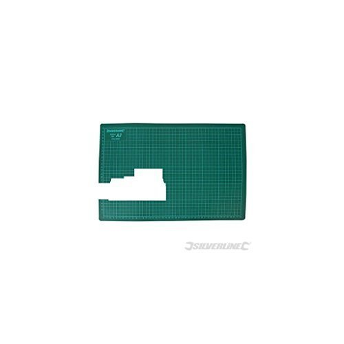 Silverline Cutting Mat A3 -  mat a3 cutting knife craft a4 a2 silverline green siverline utility scalpal 438935 456147 708532 non slip printed grid
