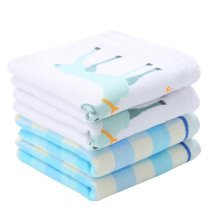 Set of 4 Cute Pattern Soft Cotton Mini Towels Baby/Kids Face Hand Towels