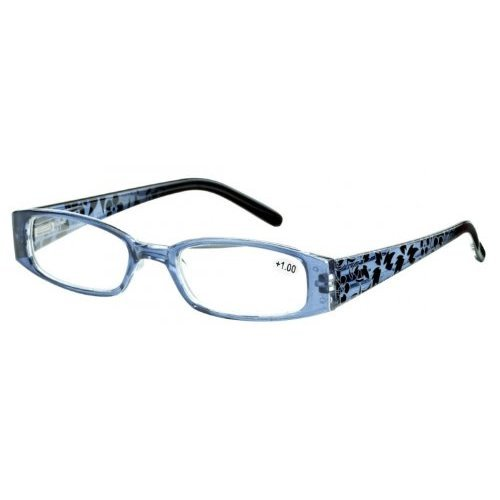 Sunoptic R11B Dark Blue Patterned Arms Reading Glasses - Strength +1.50 Including Soft Pouch