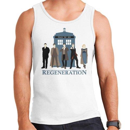 Doctor Who Regeneration Tardis Men's Vest