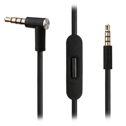 BLACK Audio Cable w/ RemoteTalk for AKG Y45BT Y50 Y40 Y55 Headphones - Solo HD