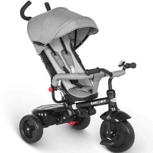 besrey Trike Kids 4 in 1 Tricycle 3 Wheel Baby Bike with Push Handle - Grey