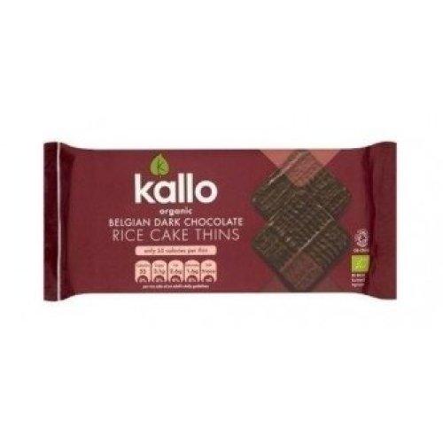 KALLO FOODS - Organic Dark Chocolate Rice Cakes Thin Sliced