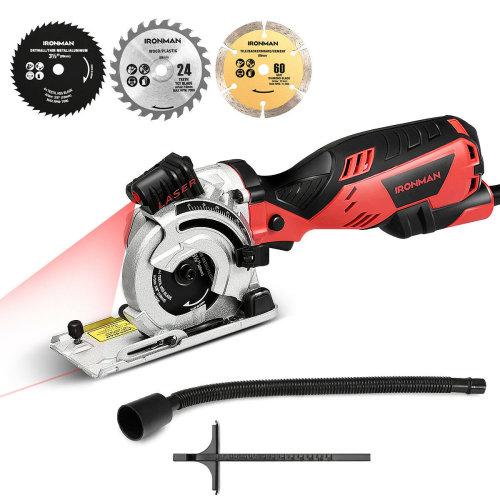 705W 4500RPM Circular Saw Kit with Laser Indicator&Edge Guide