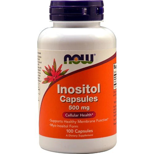 Inositol Capsules, 500 mg 100 Caps Now Foods, Myo-Inositol Form