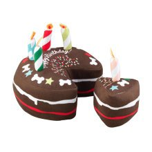 House of Paws Birthday Cake with Slice Dog Toy
