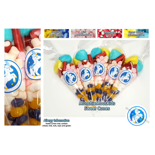 10 x Pre Filled Pony Sweet Cones 50 grams - Party Bag Sweets