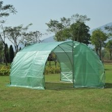 Outsunny Large Greenhouse Pe Cloth Walk in Two Doors Plant House Steel Frame (300w X 200h (cm))
