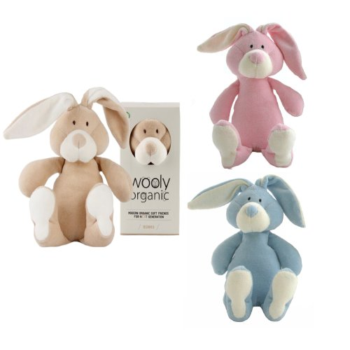 Wooly Organic Soft Toy Bunny 18cms