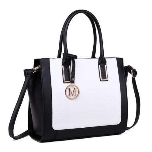 Miss Lulu Faux Leather Handbag | Shoulder Tote Bag
