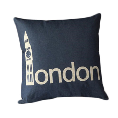 Cotton Linen Throw Cushion Cover And Inner Pillowcase 45*45cm Lodon