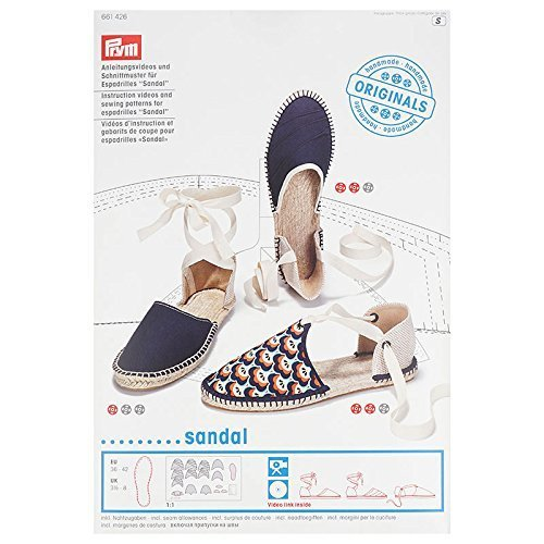 Prym Espadrilles Sandal Instruction Video and Sewing Pattern, DVD, Multi-Colour