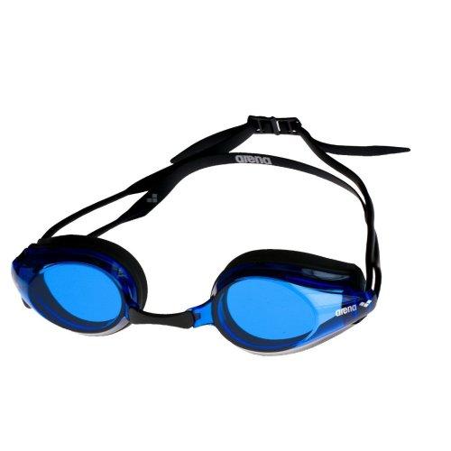 Arena Adult Tracks Swimming Goggles - Blue Lens, Black Frame
