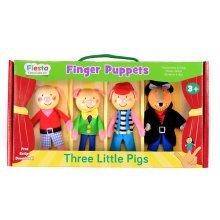 3 Little Pigs Finger Puppet Set - Fiesta Crafts Gift -  3 little pigs finger puppet set fiesta crafts gift