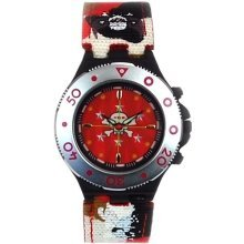 Call Of Duty Boy's Red Cameo Crosshairs Icon Analogue  Watch
