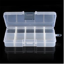 10 Compartments Detachable Empty Storage Box For Nail Tip Little Stuff Rhinestones