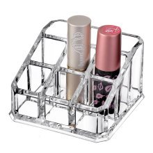 Clear Acrylic Beauty Cosmetic Organiser Makeup Lipstick Brush Display Box Case