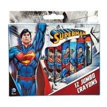 September 12 Waxes Colors Superman (jumbo) - Set Piece Jumbo Size Crayon Kids -  set superman 12 piece jumbo size crayon kids coloring drawing