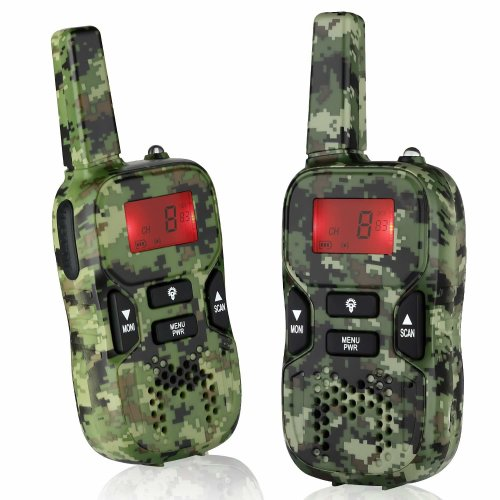 Rechargeable Walkie Talkies for Boys Girls Long Range Walky Talky Birthday Present Toys for Kids Age 4-13 Year Old Army Green