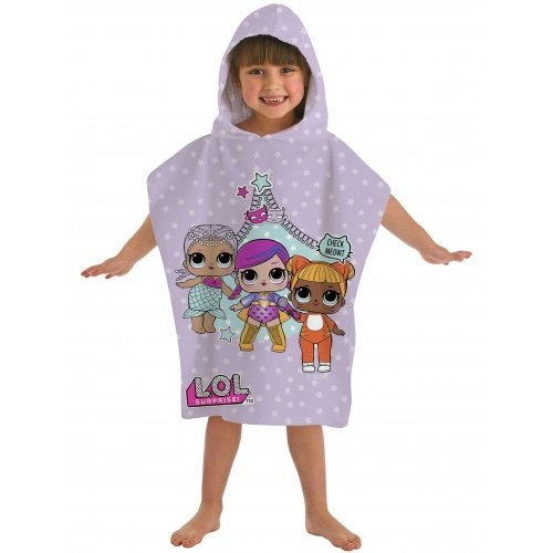 Kids' L.O.L Surprise 'Theatre Club' Hooded Poncho Towel