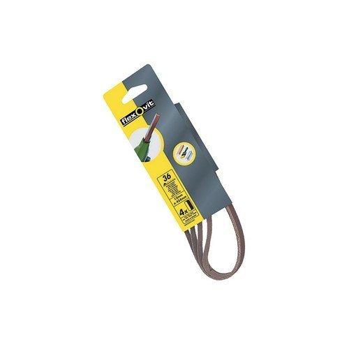 Flexovit 63642526437 Powerfile Sanding Belt 454mm x 13mm Extra Coarse 30g Pack of 4