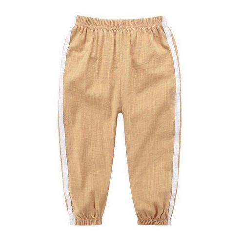 Comfortable Soft Children's Trousers, Khaki And White
